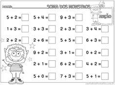 Resultado de imagem para matematica serie alfabetização soma
