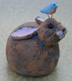 Brown bunny Easter bunny Peter Cottontail bunny by KarenFincannon, $48.00
