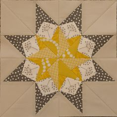 Foundation pieced star - Talk about perfect piecing!