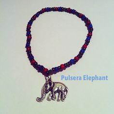 Pulsera Elephant anakcomplements.blogspot.com