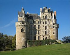 Chateau de Brissac, France. The story says that Jacques de Brézé caught his wife, Charlotte, with another man and in a fit of rage, Brézé murdered them both. Tourists have reported a sense of an eerie feeling and slight touches. Reports of ghostly sightings abound and wailing throughout the halls.