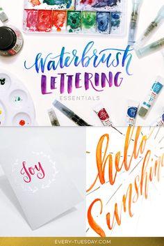 Waterbrush Lettering Essentials new Skillshare class! Details here: http://every-tuesday.com/skillshare-waterbrush