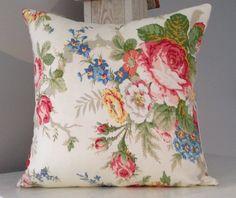 New Listing! Ralph Lauren Floral Romance 14x14 Decorative Pillow Cover, Throw Pillow Slipcover, Pillow Sham