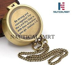 Sara Nautical Thoreaus Go Confidently Quote Engraved Compass with Stamped Leather case Camping Compass Engraved with Gift Compass.