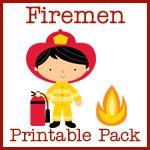 Free preschool & kinder fireman printable activities