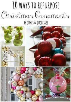 10 ways to repurpose Christmas ornaments