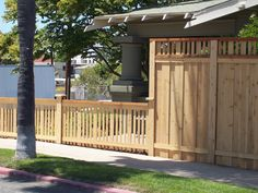 Transition from privacy fence to shorter fence.