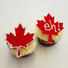 Oh Canada, our home and nom nom nom! Canada Day, Fun Cupcakes, Delicious Food, Nom Nom, Desserts, Cool Cupcakes, Yummy Food, Deserts, Dessert