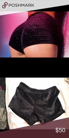 24 HOUR SALE Sparkly Sexy Booty Shorts *first image is not mine shorts are just similar* these are gymnastics/dance shorts but also perfect rave/festival wear. Worn once. Very sparkly and stretchy✨ *sexy, rave, dance, festival, booty shorts, sparkly, shiny, velvet, costume, party, trendy, tumblr pick, hot* ️EVERYTHING MUST GO❗️Always open to offers Bundle to save Shorts