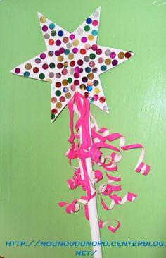 Fancy Nancy Party craft? La baguette magique de princesse, gabarit photo suivante