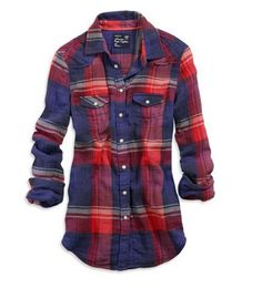 red and blue flannel. JUST bought this with a pair of red jeans to match :)