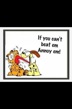 If you can't beat em...Annoy em!!