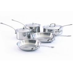 Mauviel MCook Stainless Steel Cookware Set, 8 pieces with Stainless Steel Handles