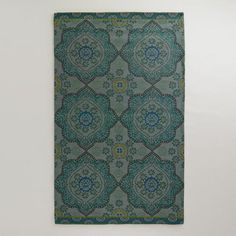 One of my favorite discoveries at WorldMarket.com: Teal Mosaic Indoor-Outdoor Rug