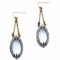 Betsey Johnson Ice Blue Victorian Style Earrings