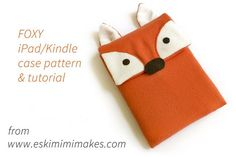 Free Foxy Kindle And iPad Sleeve Sewing Pattern