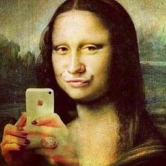 Mona Lisa Selfie  +Duck Face... I shouldnt have laughed as hard as i did.