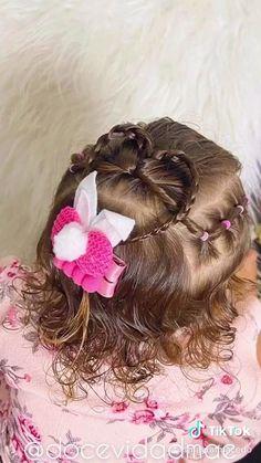 Easy Toddler Hairstyles, Baby Girl Hairstyles, Easy Hairstyles For Long Hair, Curled Hairstyles, Hair Express, Girls Hairdos, Long Hair Video, Cut My Hair, Hair Videos