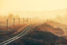 Morning by Maxim Chumash on 500px ~ Railroad, Moldova.