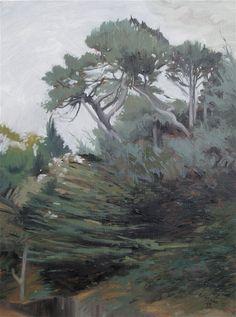 Buena Vista Park Landscape Painting 2 by MichaelLetzigStudio, $200.00