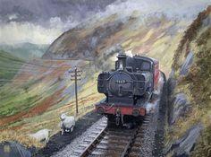 Diesel Locomotive, Steam Locomotive, Steam Trains Uk, Steam Art, Nostalgic Art, Steam Railway, Train Art, Railway Posters, British Rail