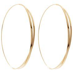 Lana Jewelry   Large Twist Magic Hoops   14K Gold