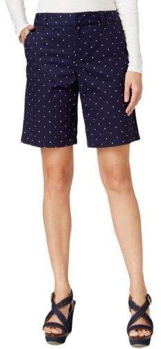 Tommy Hilfiger Womens Polka Dot Flat Front Shorts