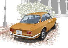 Alfa Romeo GT 1300 Junior(Vector Illustration)
