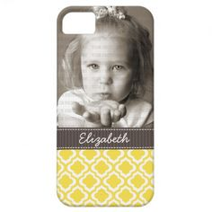 Elegant Yellow Moroccan Trellis Quatrefoil Custom iPhone 5 Cover  Click on photo to purchase. Check out all current coupon offers and save! http://www.zazzle.com/coupons?rf=238785193994622463&tc=pin