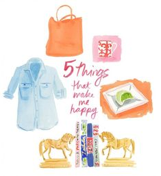 5 Things That Make Me Happy illustrated by #caitlinmcgauley