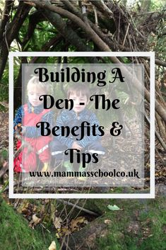 Want to know why den building is so beneficial for children? Read about why, plus tip and ideas for den building with your children. Forest School Activities, Fun Activities For Kids, Learning Activities, Activity Ideas, Den Building, Building For Kids, Holiday Club, Three Year Olds, Creative Play