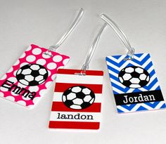 Personalized Soccer Bag Tag  Soccer Tag  by happythoughtsgifts