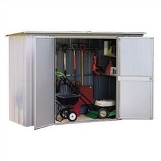 Garden Sheds 8 X 3 arrow 8 x 3 garden metal storage shed | gardens, products and metals