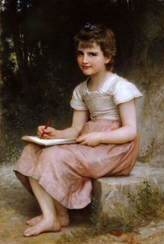 Learn more about Une vocation (A calling) William-Adolphe Bouguereau - oil artwork, painted by one of the most celebrated masters in the history of art. William Adolphe Bouguereau, Isadora Duncan, Painting Prints, Fine Art Prints, Oil Paintings, Portrait Paintings, Artist Painting, Munier, French Artists