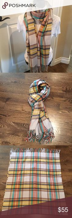 Cashmere wrap/scarf Plaid cashmere wrap /scarf NWOT Smoke free home  28x72 Accessories Scarves & Wraps