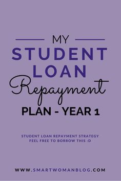 If you've got student loans and looking for a way to pay it off, read my student loan repayment strategy here! You might just get some ideas you can use. // Smart Woman Blog