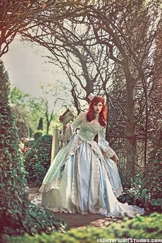 Alice in Wonderland Marie Antoinette Fantasy Gown New Style Custom. via Etsy. LOVE the mix of two stories