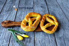 Romanian Food, Romanian Recipes, Pastry And Bakery, Onion Rings, Bread Baking, Shrimp, Carrots, Good Food, Sweets