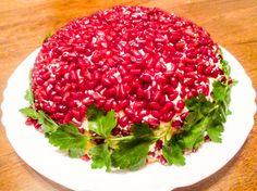 Салат Красная Шапочка с гранатом, пошаговый рецепт с фото