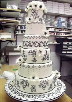 a wedding cake made by Cake boss