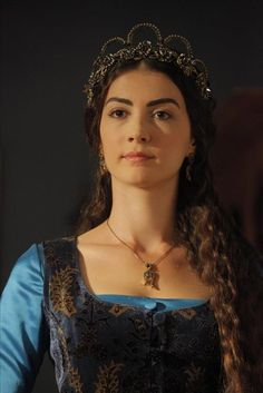 Turkish Actress Mina Tuana Gunes (scene from Magnificent Century TV series, episode 106)