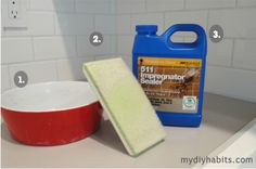my{DIY}habits: It's a Dirty Job.but someones gotta seal it! House Cleaning Tips, Cleaning Hacks, Diy Art Projects, House Projects, Project Ideas, Sealing Grout, Updated Kitchen, Kitchen Updates, Paint Supplies