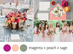 Color Crush: Magenta, Peach and Sage | TheKnot.com