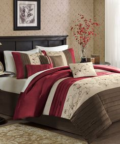 Instantly transform any bedroom with this attractive comforter set. Including all the shams and pillows needed to complete a polished look, this cozy set comes relaxation ready. Includes comforter, bed skirt, two shams and three pillowsAvailable in multiple sizes100% polyesterMachine w...