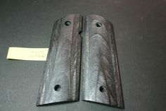 BLACK LAMINATED 1911 Grips Wood Gun Mag Blank Scales Full SIze 45 ACP 7-8 rd #206grips