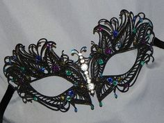 STEVIE!! THIS ONE IS A BUTTERFLY!!! Masquerade Mask  Metal Mask in Turquoise by TheCraftyChemist07, $33.95
