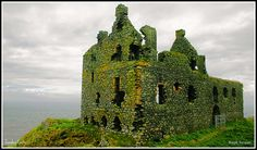 Dunskey Castle, Mull of Galloway, Scotland. A mile past Portpatrick, it's on an outcrop jutting towards the North Channel of the Irish Sea. It's basically a towerhouse that was built in the mid 16th century by the Adairs. It was extended in the early 17th century, but by 1700 the place was derelict. Like so many defended houses, it was built on the remains of an earlier house dating back to around 1320, but that was destroyed in a local skirmish around 1500.