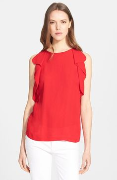 kate spade new york ruffle crepe top available at #Nordstrom