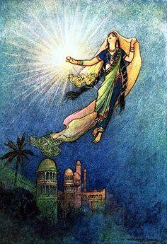 light--illustration by Edmund Dulac