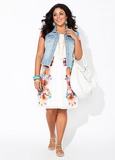 Ashley Stewart...would love it with sleeves